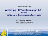 Achieving HR Transformation 2.0 – the Role of Workforce ... - IHRIM
