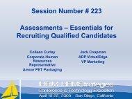 Essentials for Recruiting Qualified Candidates - IHRIM