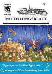 Mitteilungsblatt Dezember 2013 - Ihrlerstein