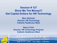 Session # 127 Show Me The Money!!! Get Capital Dollars ... - IHRIM