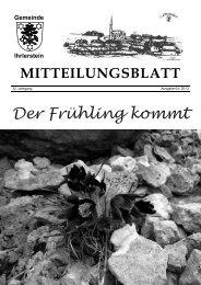 Mitteilungsblatt April 2013 - Ihrlerstein