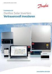 Danfoss Solar Inverters Produktübersicht mit Artikelnummern
