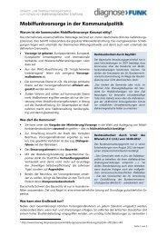 Mobilfunkvorsorge in der Kommunalpolitik - Diagnose Funk