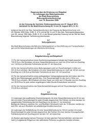 3.17 Regelung über die Erhebung von Entgelten für Leistungen des ...