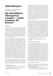 Abhandlungen Die betriebliche Altersgrenze wandert – wohin ... - Aon