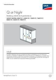Q at Night - SMA Solar Technology AG