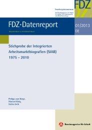 FDZ-Datenreport 01/2013 - IAB