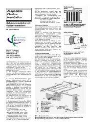 Zeitgemäße Elektroinstallationen - Enertec GmbH