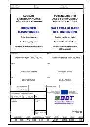 BRENNER BASISTUNNEL GALLERIA DI BASE DEL BRENNERO