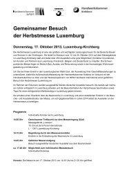 Gemeinsamer Besuch der Herbstmesse Luxemburg