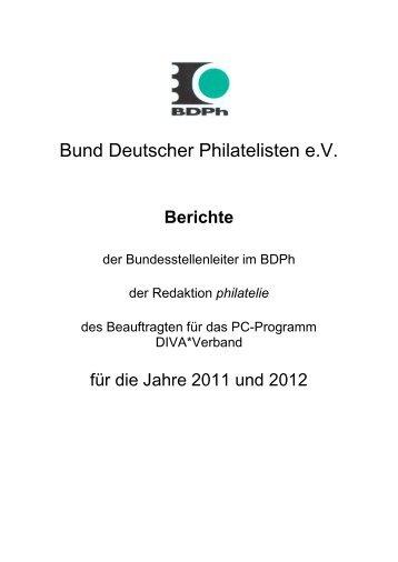 Berichte - Bund deutscher Philatelisten eV