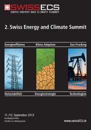 2. Swiss Energy and Climate Summit - Cleantech Switzerland