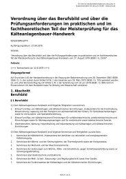 Verordnung über das Berufsbild und über die ...