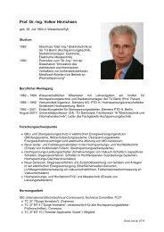 Prof. Dr.-Ing. Volker Hinrichsen - Fachgebiet Hochspannungstechnik