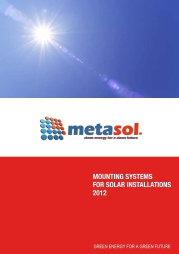 Mounting systems for solar INSTALLATIONS 2012