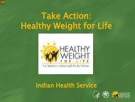 Take Action: Healthy Weight for Life Presentation - Indian Health ...