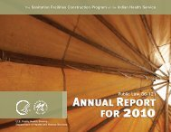 Public Law 86-121 Annual Report for 2010 - Indian Health Service