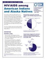 HIV/AIDS among American Indians and Alaska Natives Fact Sheet