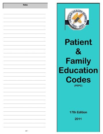 patient family education teaching guide health and The kimmel cancer center staff believe patient and family education is one of the most you will receive your patient guide during your (patients & health plan.