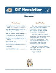 OIT Newsletter, March 2012 - Indian Health Service