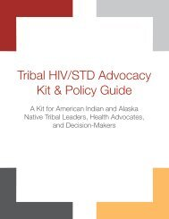 Tribal HIV/STD Advocacy Kit and Policy Guide - Indian Health Service