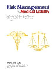 Risk Management and Medical Liability - Indian Health Service