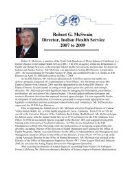 Read Mr. McSwain's Biography - Indian Health Service