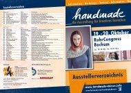19.-20. Oktober RuhrCongress Bochum - handmade