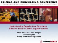 Understanding Supplier Cost Structures - Country & Industry ...