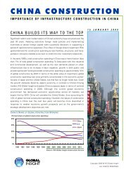 china construction - Country & Industry Forecasting: IHS Global Insight