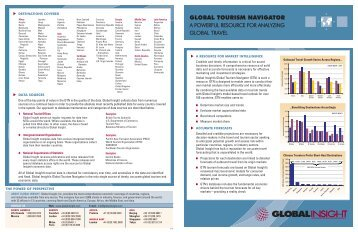 global tourism navigator - Country & Industry Forecasting: IHS ...