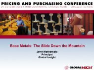 Base Metals: The Slide Down the Mountain - IHS Global Insight
