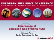 Emergence of European Gas Trading Hubs - IHS Global Insight