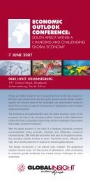 ECONOMIC OUTLOOK CONFERENCE: - IHS Global Insight