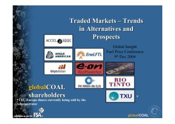 globalCOAL - Country & Industry Forecasting: IHS Global Insight