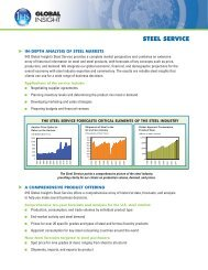 2010 Steel Industry Service PS.qxd - Country & Industry Forecasting ...