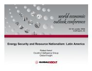 Energy Security and Resource Nationalism: Latin America - Country ...