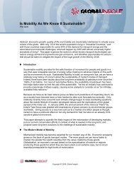 Is Mobility As We Know It Sustainable? - Country & Industry ...