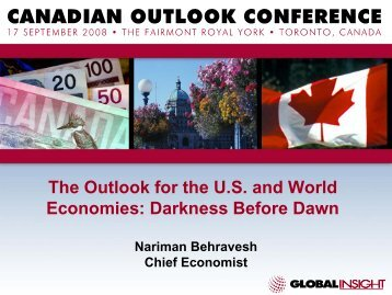 The Outlook for the U.S. and World Economies ... - IHS Global Insight