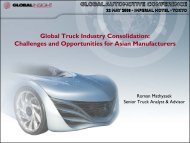 Global Truck Industry Consolidation: Challenges ... - IHS Global Insight