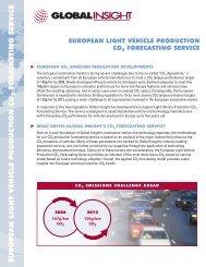 European Vehicle Production CO2 Forecasting Service.qxd