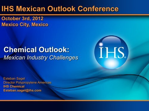 Chemical Outlook - Country & Industry Forecasting: IHS