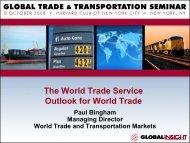 Paul Bingham, Managing Director, World Trade and Transportation ...