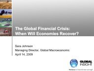 The Global Financial Crisis - Country & Industry Forecasting: IHS ...