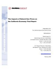 The Impacts of Natural Gas Prices on the California Economy: Final ...