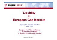 Liquidity in European Gas Markets - IHS Global Insight