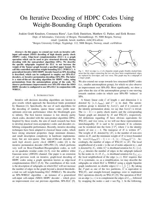 On Iterative Decoding of HDPC Codes Using Weight-Bounding ...