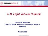 US Light Vehicle Outlook - IHS Global Insight