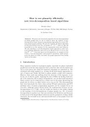 How to use planarity efficiently: new tree-decomposition based ...