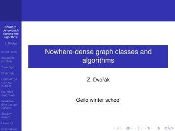Nowhere-dense graph classes and algorithms